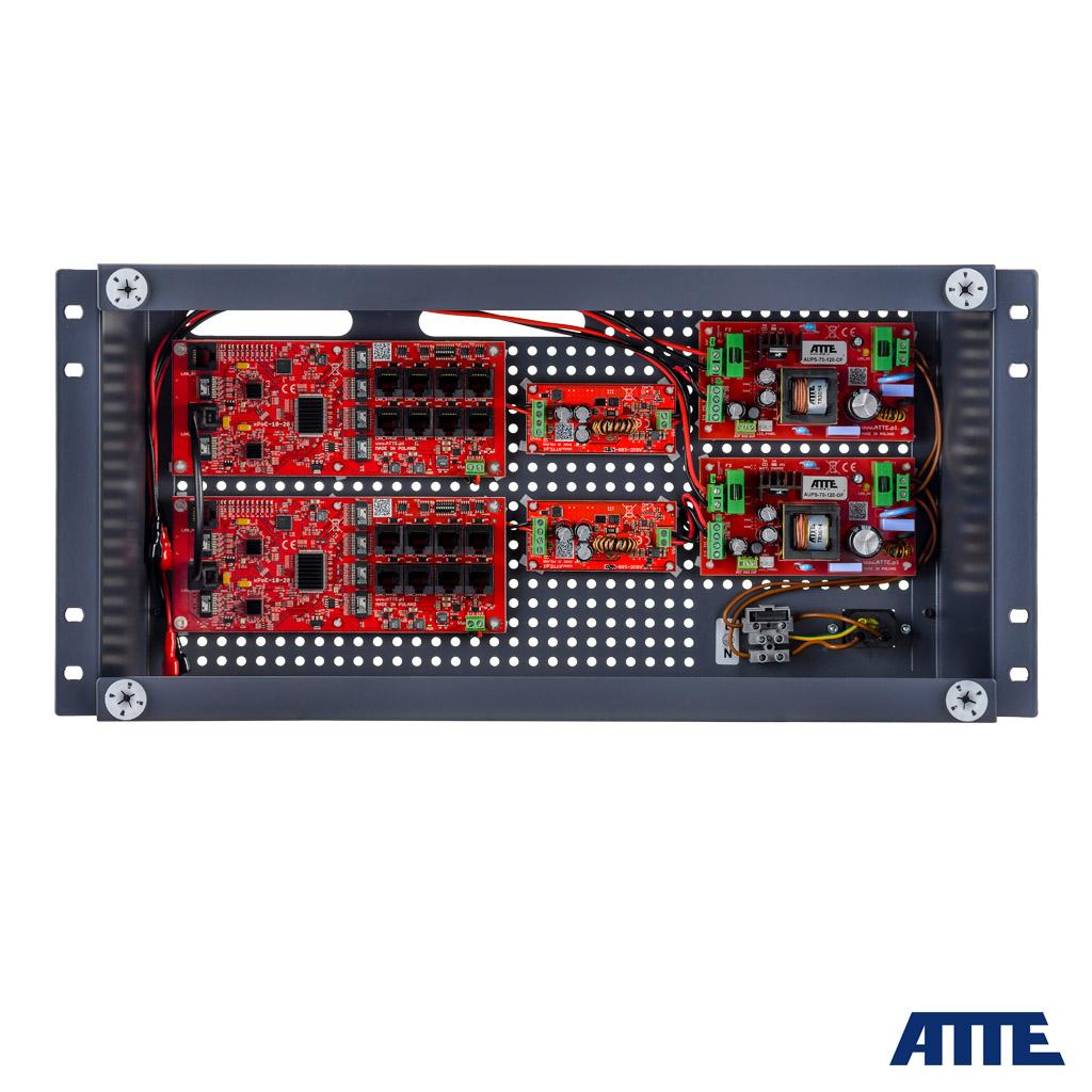 Zestaw buforowy do 16 kamer IP switch Po 16P+2G ATTE IPUPS-16-20-R5U0